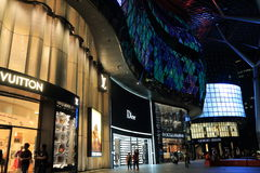 Shopping Singapore Royaltyfri Foto