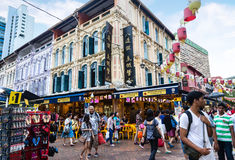 Shopping in Singapore Chinatown Royalty Free Stock Images
