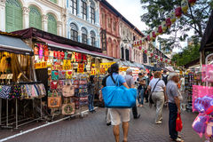 Shopping in Singapore Chinatown Stock Photos