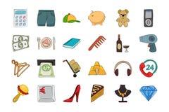 Shopping Sketchy Vector Icon 3 Stock Photos