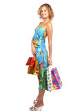 Shopping smiling woman Royalty Free Stock Photography