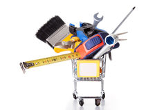 Shopping some construction tools Stock Photography