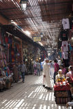 Shopping in the Souk of Marrakesh. Shopping in the Souk of the medina in Marrakesh, Morocco, April 1, 2012 Stock Images