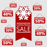 Shopping special offers, discounts and promotions, winter sale Stock Photo