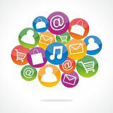 Shopping Speech Bubbles Stock Images