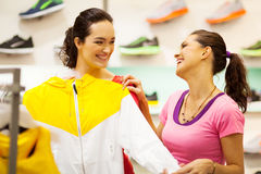 Shopping for sportswear Stock Photos