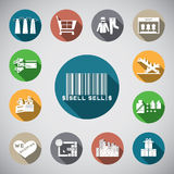 Shopping spot icon Stock Images