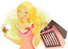 Shopping spree Foto de Stock Royalty Free