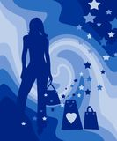 Shopping spree vector illustration