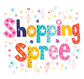 Shopping spree royalty-vrije illustratie