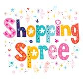 Shopping spree Stockfoto