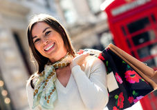 Shopping spree in London Royalty Free Stock Image