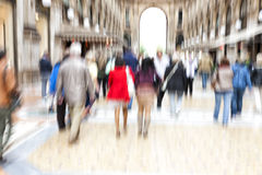 Shopping spree, zoom effect, motion blur Stock Photo