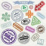 Shopping Stamps Stock Photos
