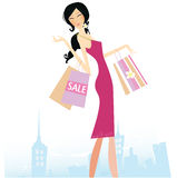 Shopping star Royalty Free Stock Images