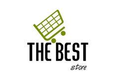 Shopping station Logo Design Royalty Free Stock Photos