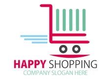Shopping station Logo Design Stock Photos