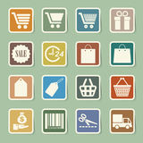 Shopping sticker icons set. Stock Image