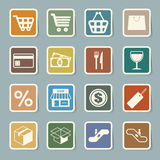 Shopping sticker icons set. Royalty Free Stock Images