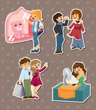Shopping stickers Stock Image