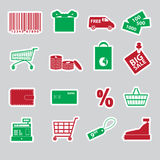 Shopping stickers set eps10 Royalty Free Stock Image