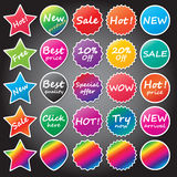 Shopping stickers Stock Photos