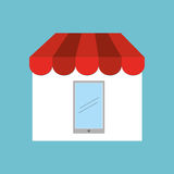 shopping store icon Royalty Free Stock Photos