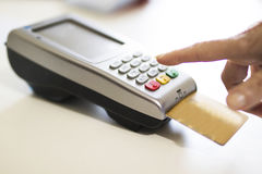 Shopping and stores with credit card. Payments Stock Photos