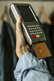 Shopping and stores with credit card. Payments Stock Image