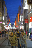 SHOPPING STREET, COLOGNE Royalty Free Stock Photo