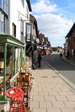 Shopping street in Arundel Sussex UK. High street shopping street in Arundel Sussex UK stock photo