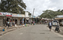 Shopping street in Arusha Royalty Free Stock Image