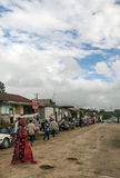 Shopping street in Arusha stock photos