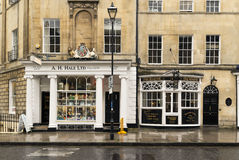 Shopping Street in Bath UK Royalty Free Stock Photo