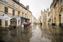 Shopping Street in Bath UK Stock Images