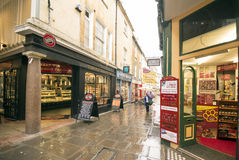 Shopping Street in Bath UK Stock Photos