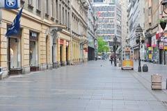 Shopping street of Belgrade, Serbia Stock Photos