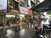 Shopping street by Ben Thanh market in Ho Chi Minh City, Vietnam Royalty Free Stock Photography