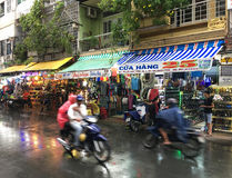 Shopping street by Ben Thanh market in Ho Chi Minh City Royalty Free Stock Images