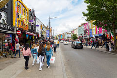 Shopping street in Camden, London, UK Royalty Free Stock Photography