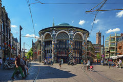 Shopping street in the center of The Hague. Royalty Free Stock Images