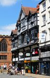 Shopping street, Chester. Stock Photo