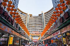 Shopping street on  Chinese Spring Festival Royalty Free Stock Photo