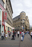 Shopping Street in Cologne, Germany Stock Photos