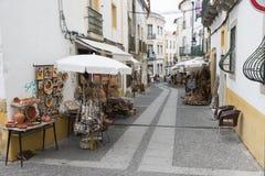 Shopping street evora Royalty Free Stock Image