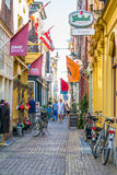 Shopping street Fnidsen in Alkmaar, Netherlands Stock Image