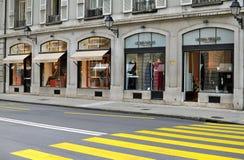 Shopping street, Geneva Stock Image