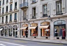 Shopping street of Geneva Royalty Free Stock Image