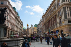 Shopping  street Graben Royalty Free Stock Photo