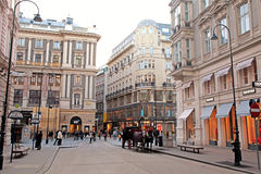Shopping street Graben in Vienna, Austria. Royalty Free Stock Photos